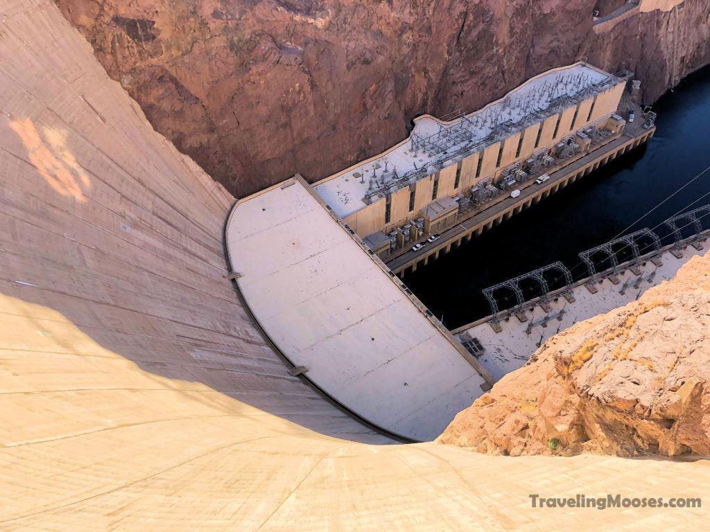 Hoover Dam looking down towards Colorado
