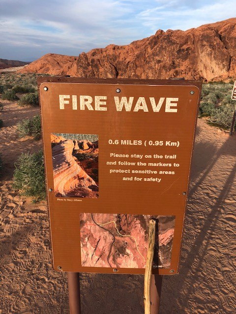 Fire Wave Trail sign