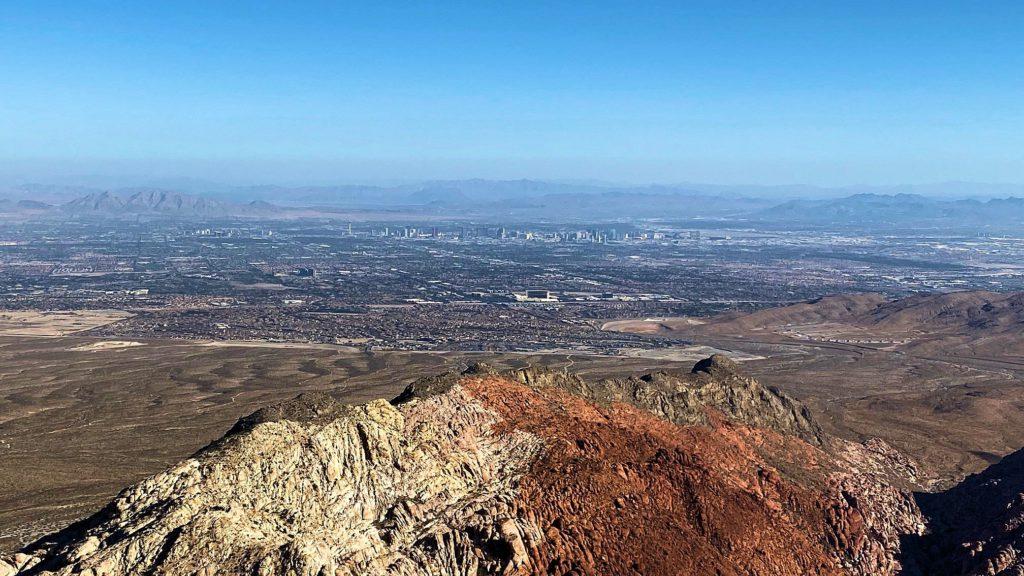 Las Vegas seen from Turtlehead Peak