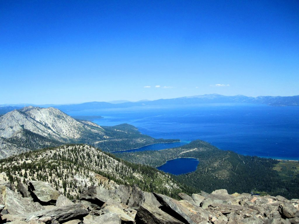 Lake Tahoe from Mt Tallac Summit