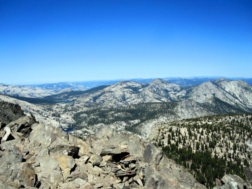 South east view from Mt Tallac Summit