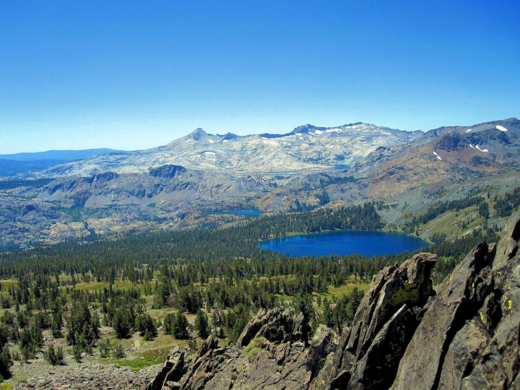 View from Mt Tallac