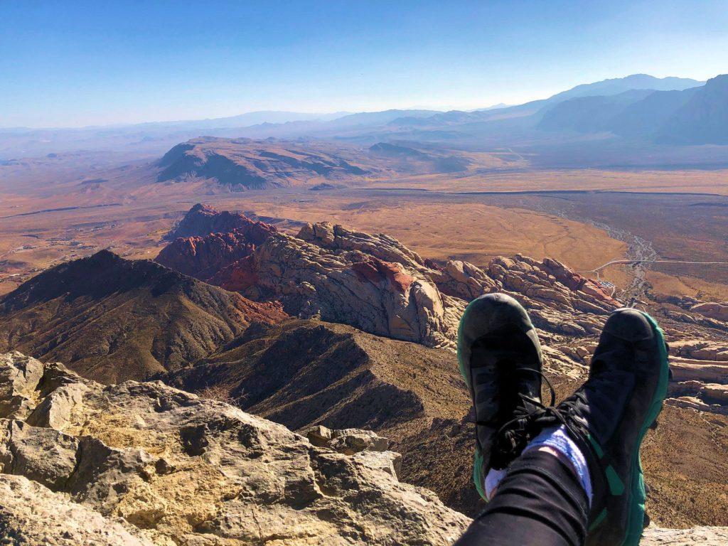 Feet relaxing on Turtlehead Summit
