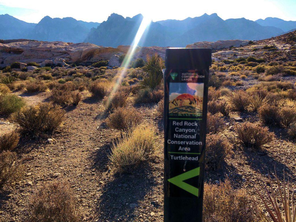 Turtlehead Peak trail marker