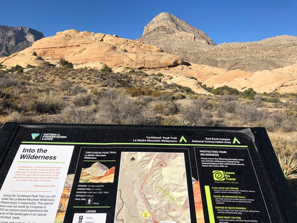 Turtlehead Peak trail sign
