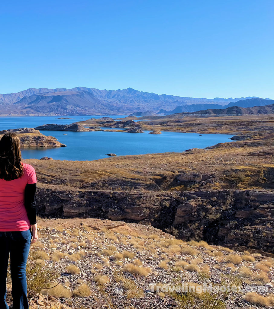 Woman looking out over Lake Mead