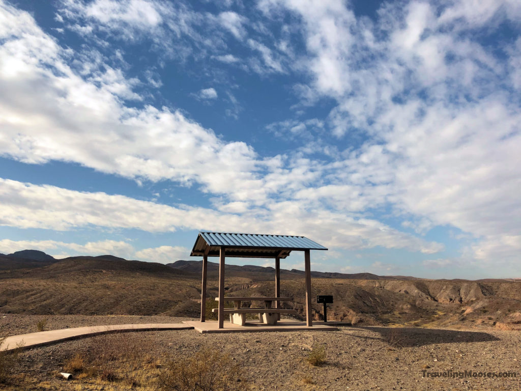 Picnic Area Shelter at White Owl Canyon trailhead