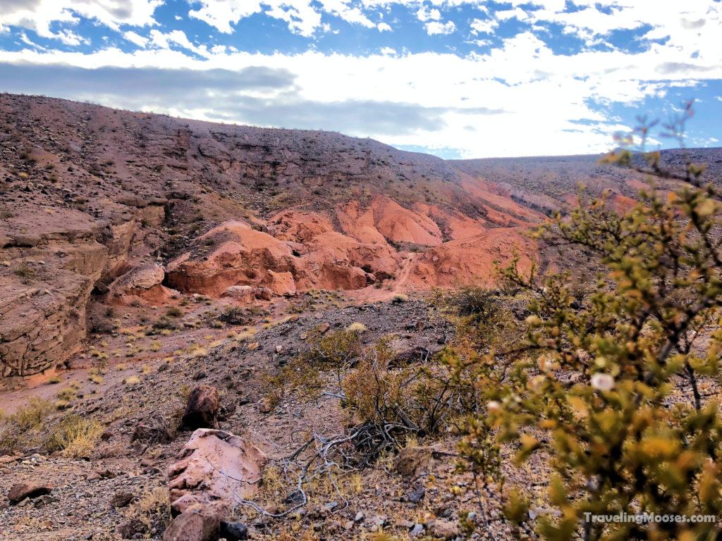 Red rock hills along white owl canyon trail