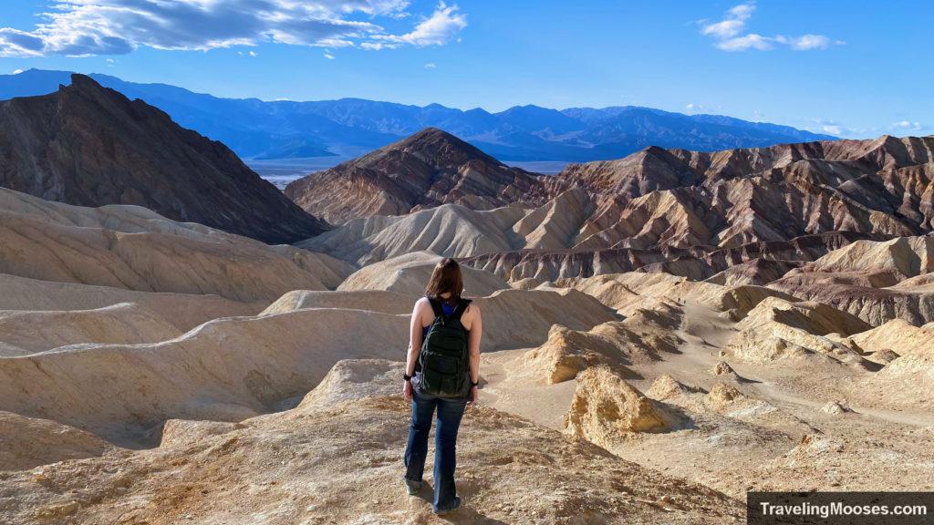 Women on Golden Canyon trail near Manly beacon
