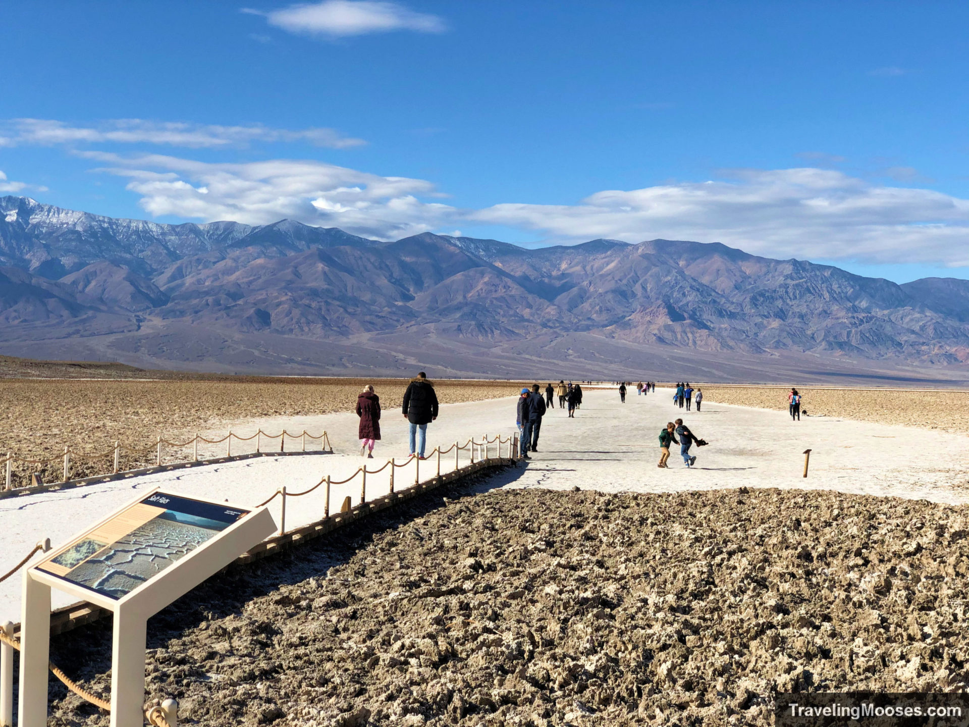 Crowds on Boardwalk at Badwater Basin