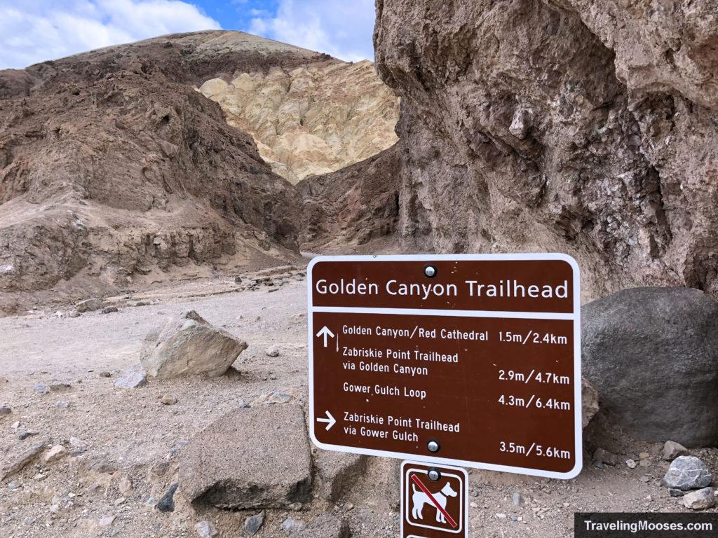 Golden Canyon Trailhead Sign