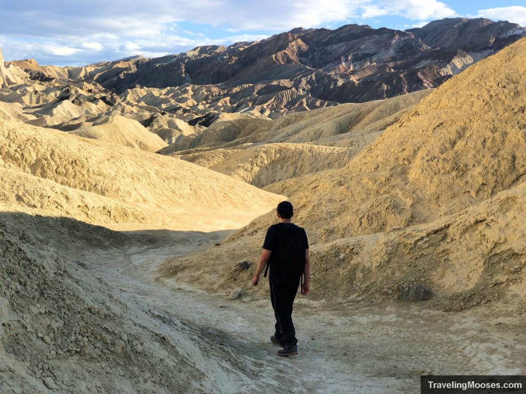 Man walking on gower gulch trail