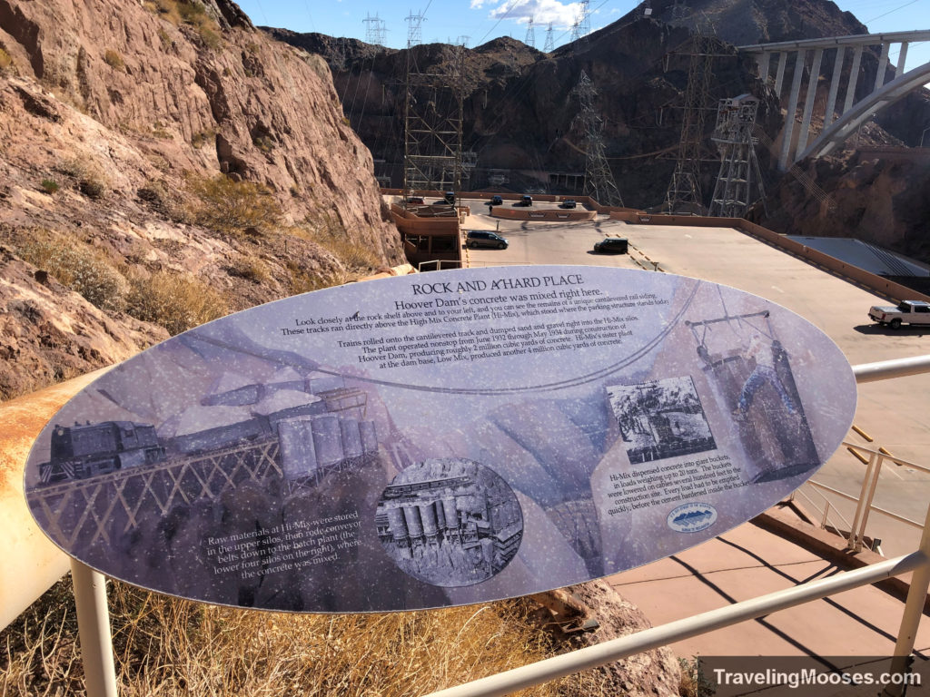 Trail sign at Hoover Dam
