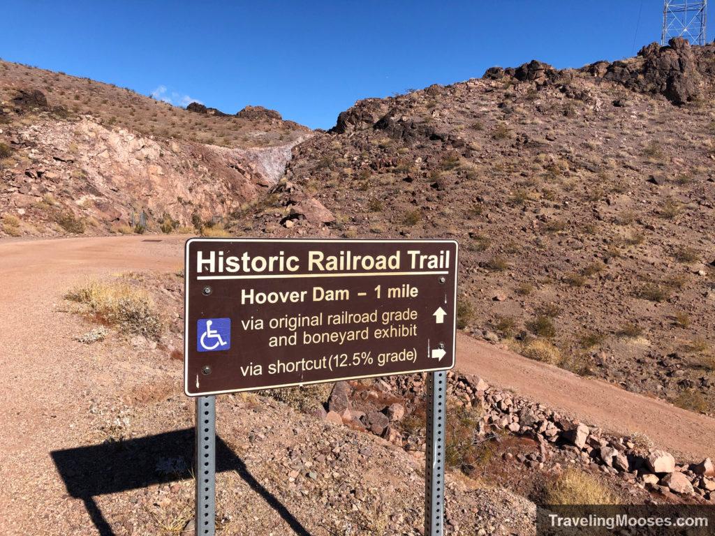 Historic Railroad Trail trail sign at fork