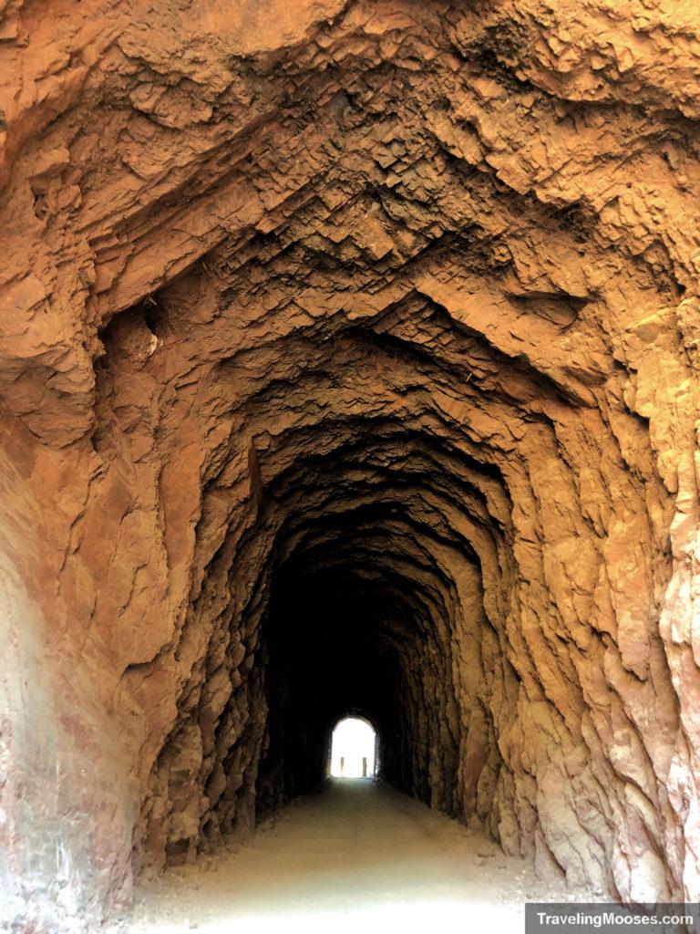Tunnel on railroad historic trail