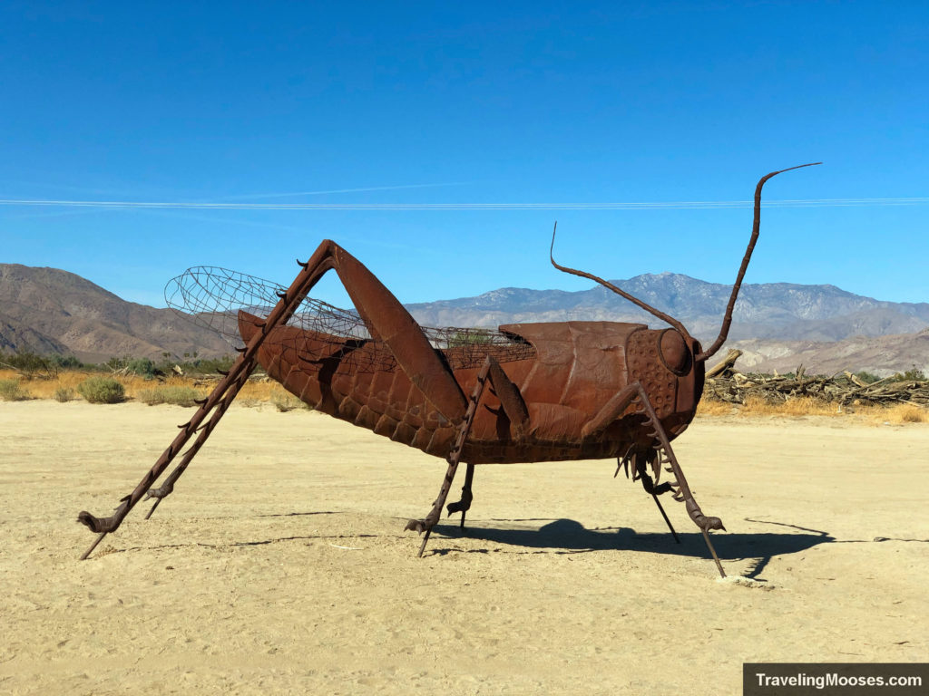 Grasshopper sculpture at Borrego Springs