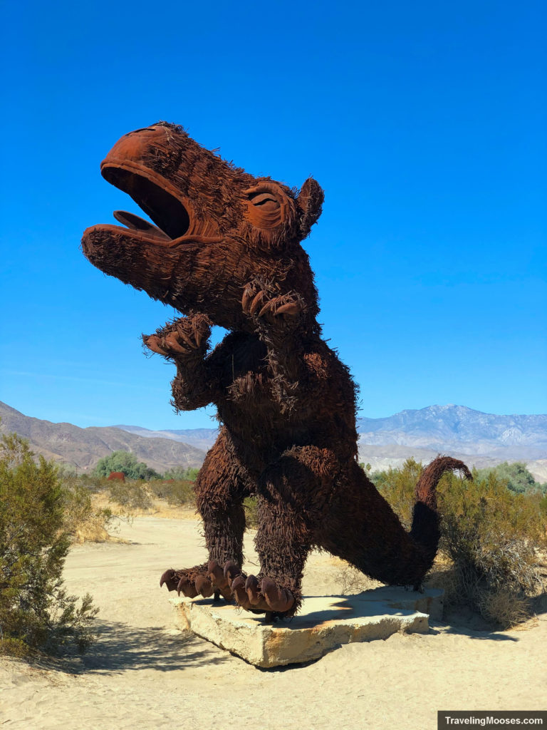 T-Rex Sculpture at Borrego Springs