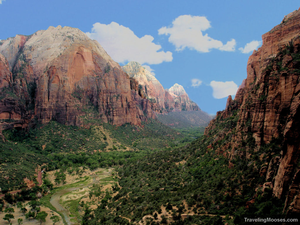 Zion National Park from Angel's landing trail
