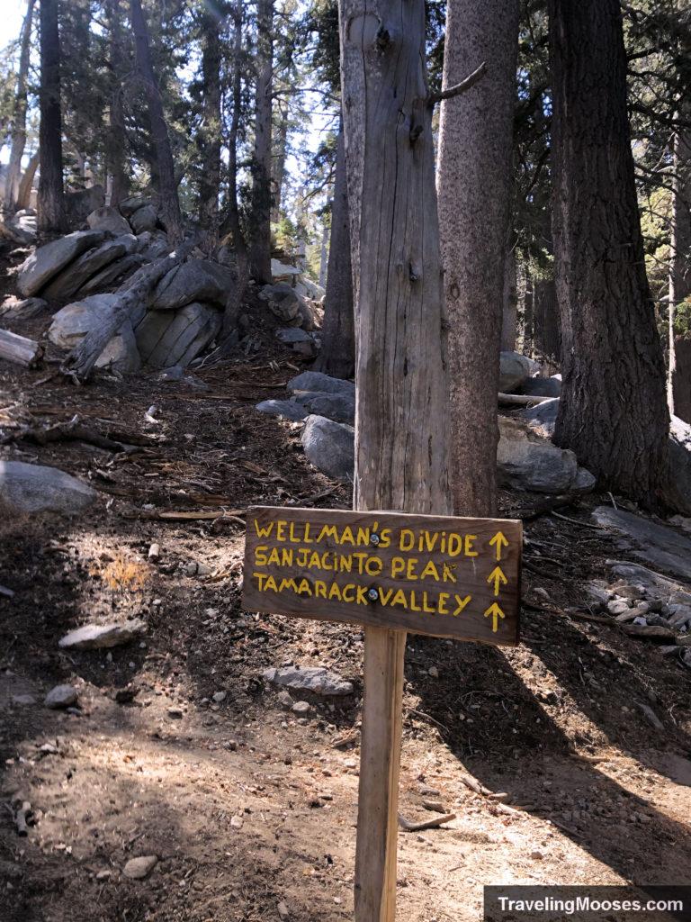 San Jacinto trail sign