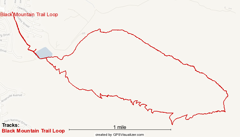 Black Mountain Loop Trail Map