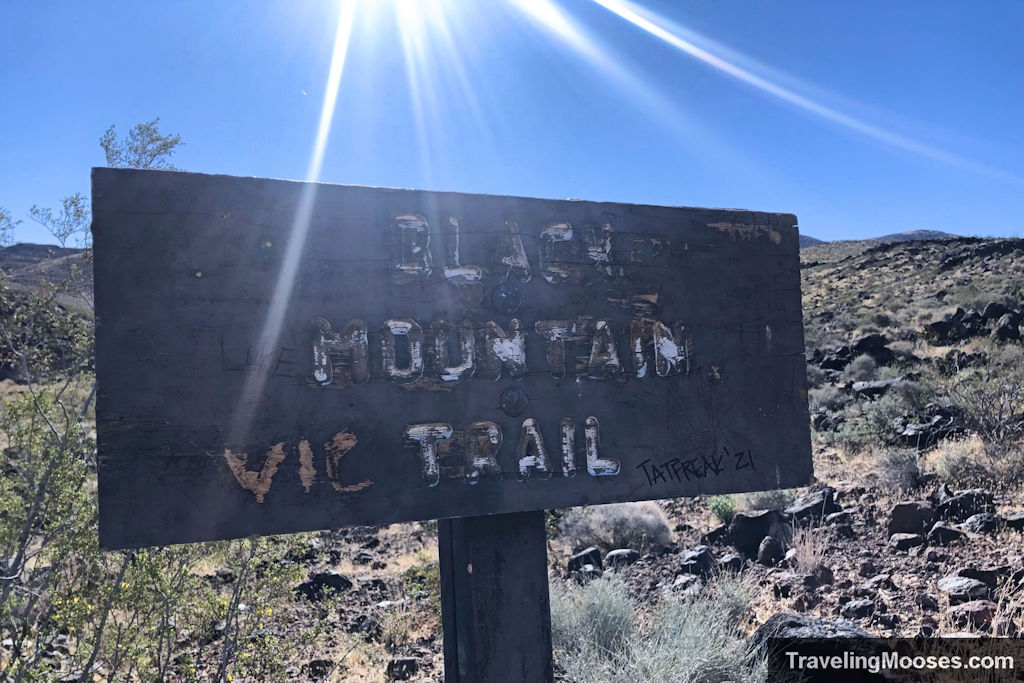 Black Mountain Wooden Trail Sign