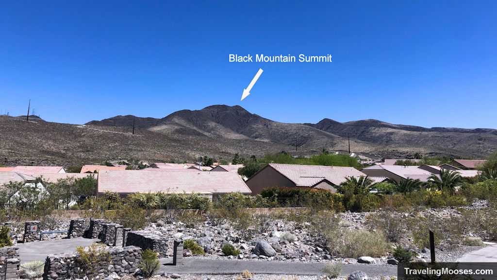 Black Mountain Summit seen from Shadow Canyon Parking lot
