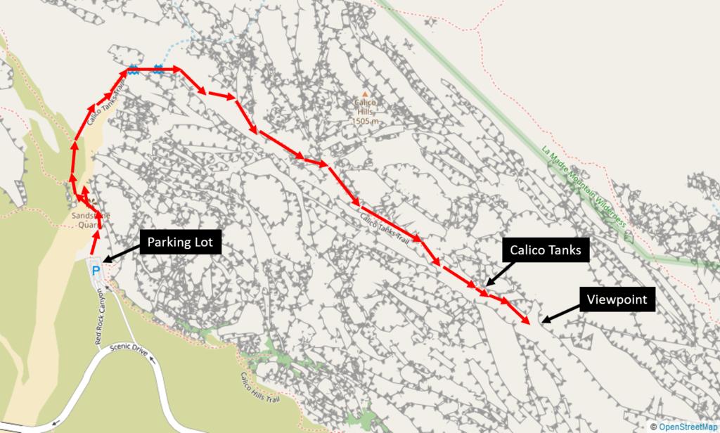 Calico Tanks Trail Map