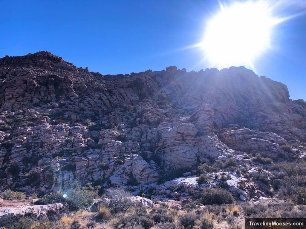 Rock formations on kraft mountain loop trail