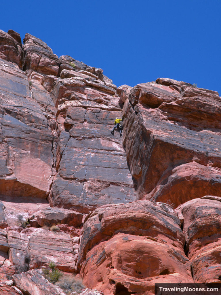 Climber in Red Rock Canyon