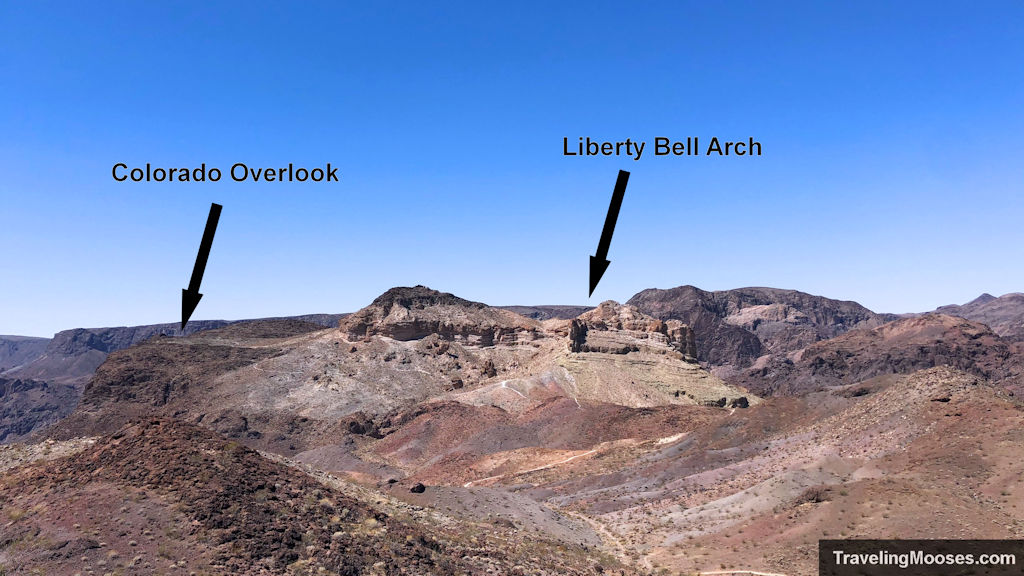 Liberty bell arch and colorado overlook