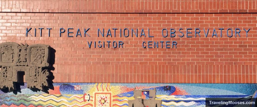 Kitt Peak National Observatory Visitor Center welcome sign