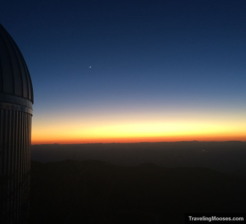 Near darkness at Kitt Peak Observatory