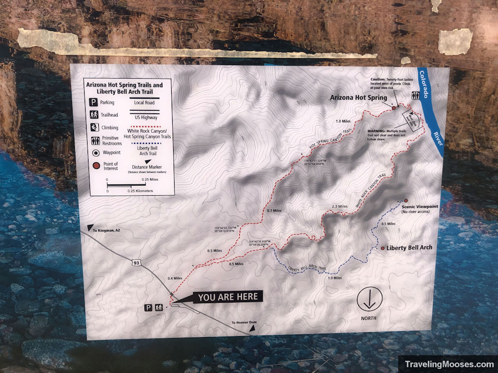 Official Liberty Bell Arch trail map