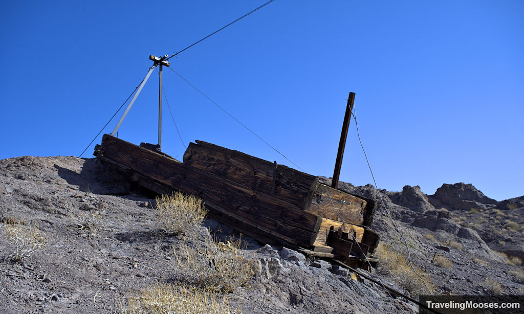 mining ore cart on liberty arch trail