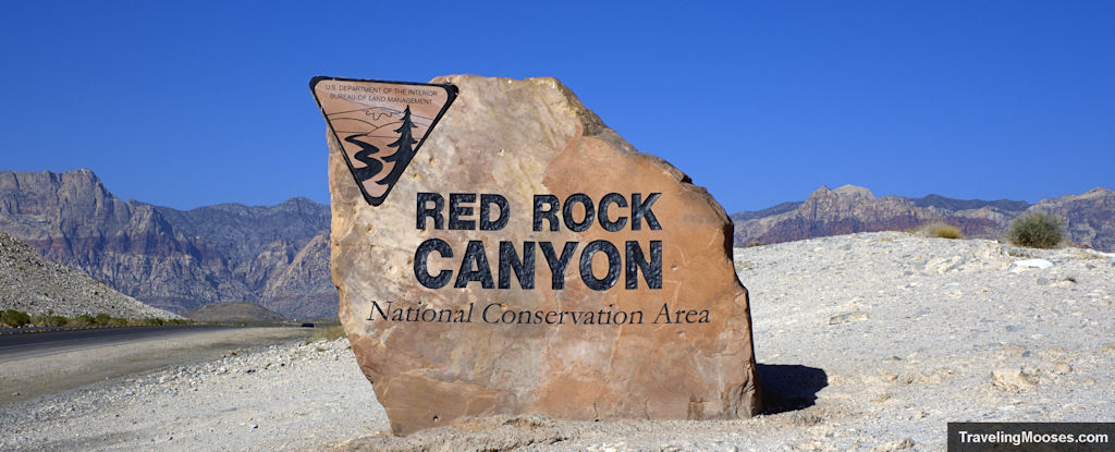 Red Rock Canyon National Conservation Area entrance sign