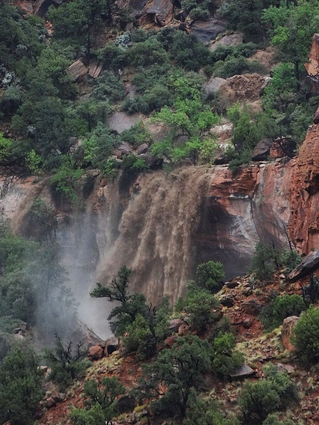 Spry Canyon flash flood in Zion National Park