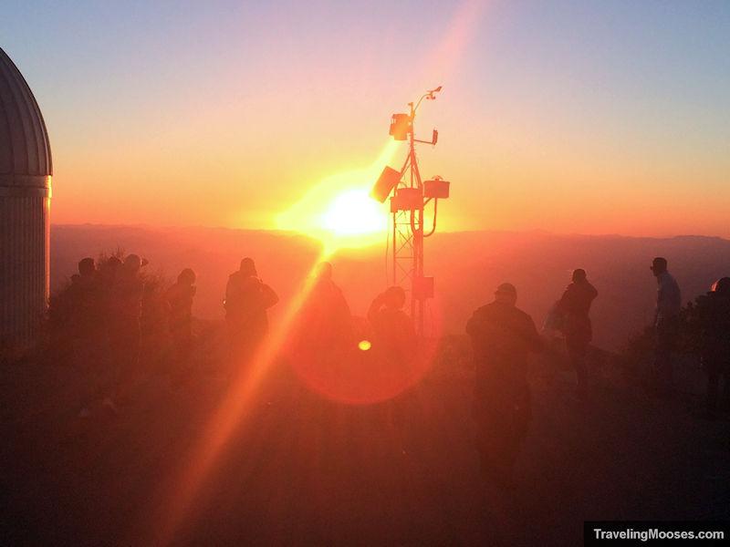 Participants during sunset at Kitt Peak Observatory