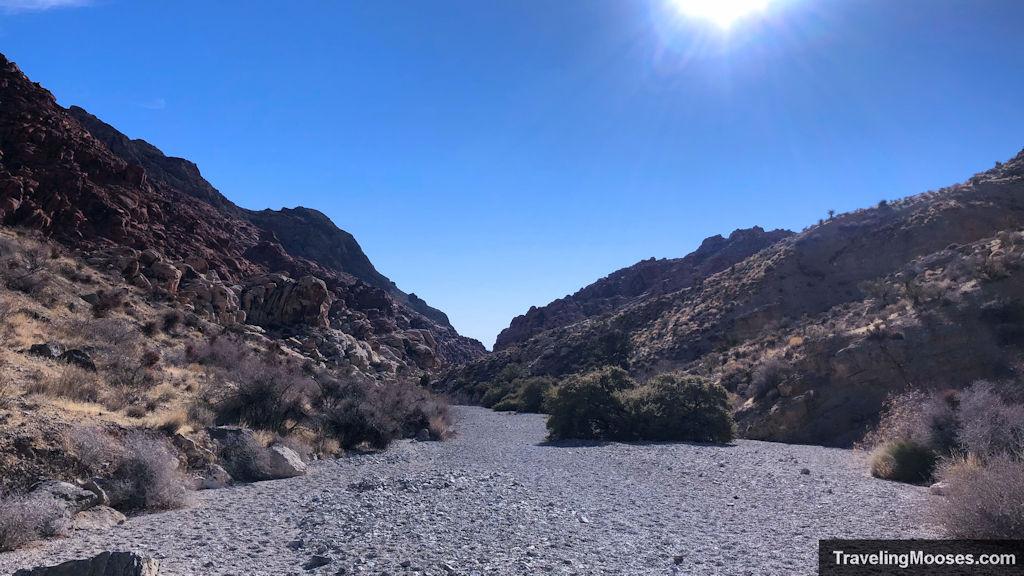 Wash along kraft mountain trail