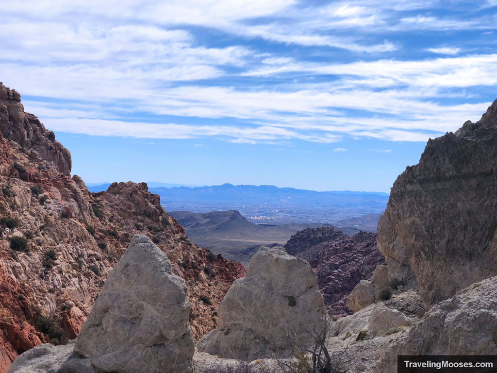 View of Las Vegas from kraft mountain trail