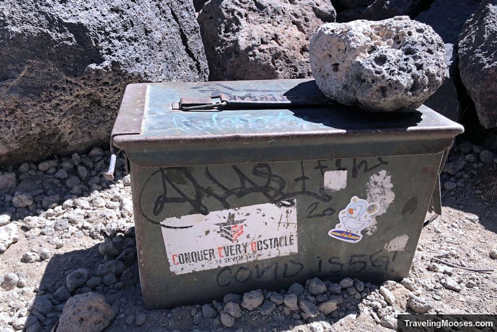 Metal trail register box