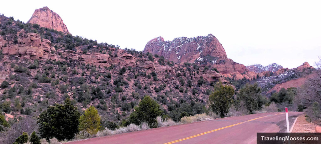 Kolob Canyons Road in the Winter
