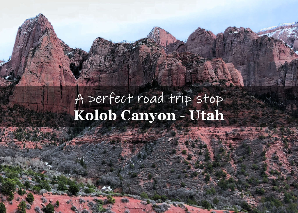 Kolob Canyons with snow in the winter