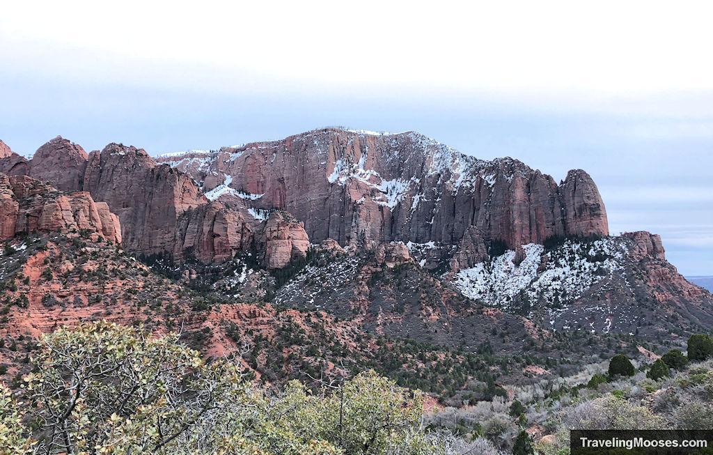 Kolob Canyon with snow