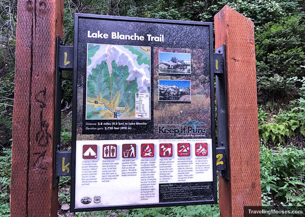 Lake Blanche trail map