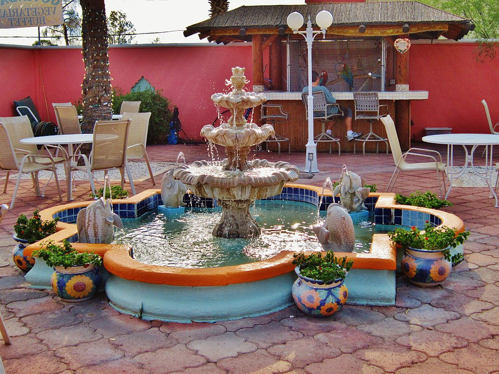 Colorful Fountain at Sonora desert museum