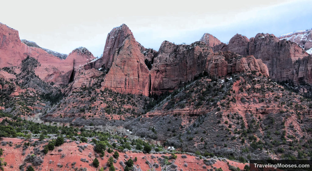 Kolob Canyon overlook in the winter