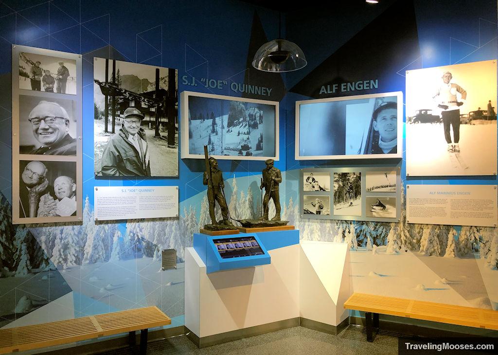 "Alf Engen Museum exhibits with pictures of Alf Engen and S.J ""Joe"" Quinney"