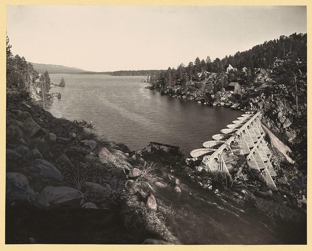 Big Bear Dam show in 1912
