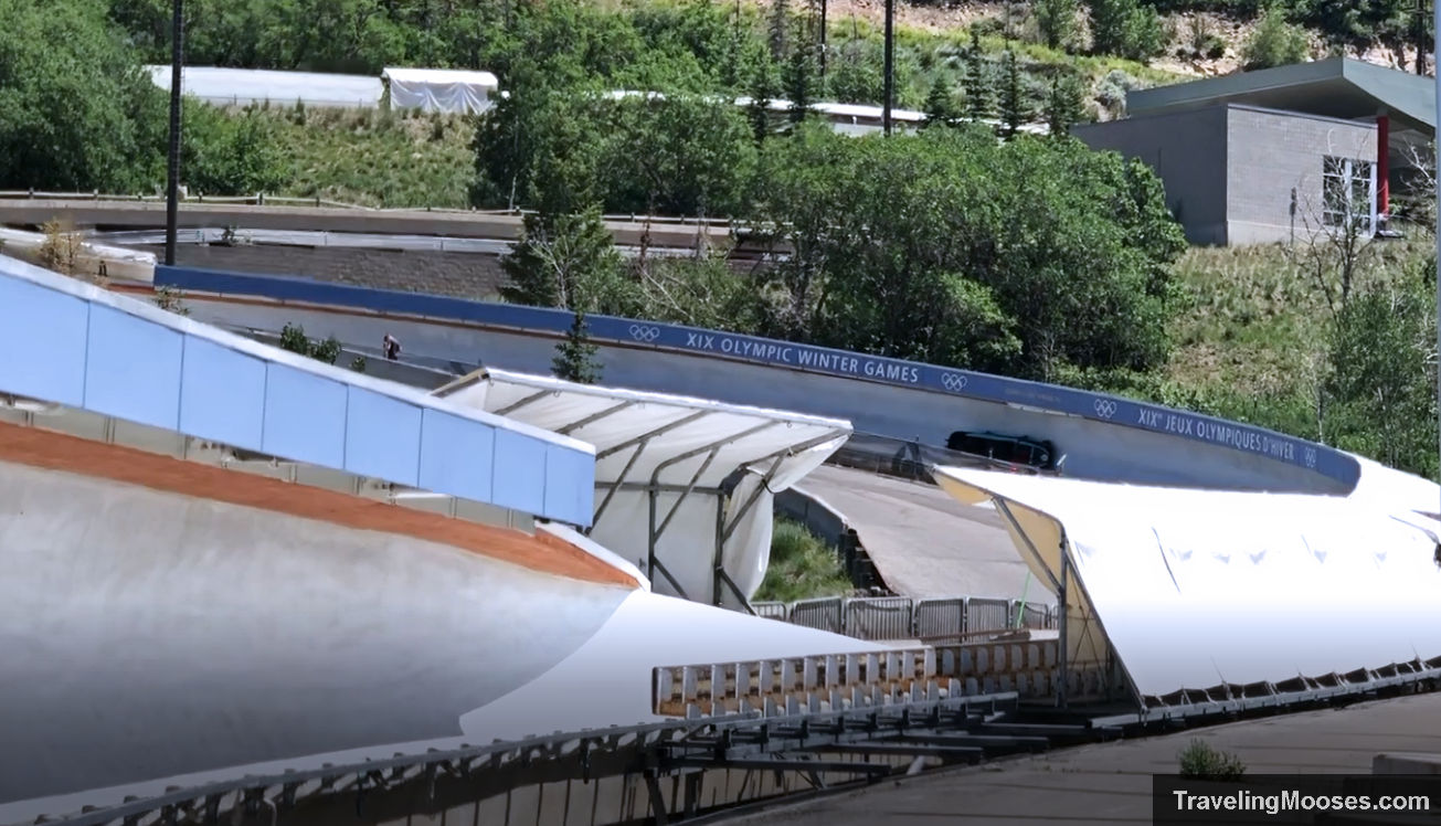 Bobsled at Utah Olympic park on track