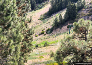 Hikers seen walking on Bobsled hiking trail
